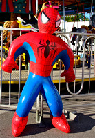 Spiderman guards the Merry-Go-Round